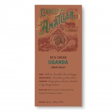 Tableta de Chocolate Negro 81% Cacao Uganda 'Semliki Valley' 70gr. Chocolate Amatller. [Caja de 10 unidades]