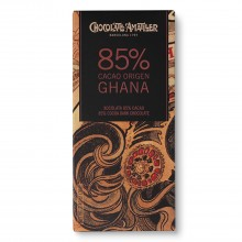 Tableta de Chocolate Negro 85% Cacao Ghana 70gr. Chocolate Amatller. [Caja de 10 unidades]