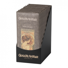 Tableta de Chocolate Negro 50% Cacao 85gr. Chocolate Amatller. [Caja de 10 unidades]
