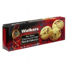 Shortbread con Chips de Chocolate 125gr. Walkers. [Caja de 12 unidades]