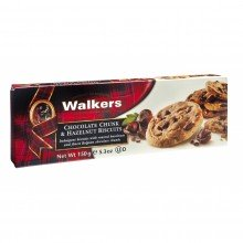 Biscuits con Chips de Chocolate y Avellanas 150gr. Walkers. [Caja de 12 unidades]