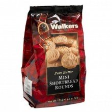 Mini Shortbread Rounds 125gr. Walkers. [Caja de 12 unidades]
