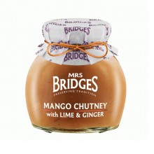 Mango Chutney with Lima & Ginger 280gr. Mrs. Bridges. [Caja de 6 unidades]