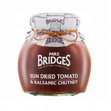 Sun Dried Tomato & Balsamic Chutney 280gr. Mrs. Bridges. [Caja de 6 unidades]
