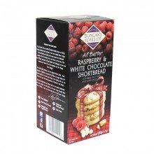All Butter Raspberry & White Chocolate Shortbread 200gr. Duncans of Deeside. [Caja de 12 unidades]